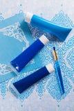 Blau, Indigo, Kobaltfarben - Haupt-interieur Konzept des Entwurfes, an Lizenzfreie Stockfotografie