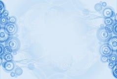 Blau kreist abstrakten Hintergrund ein Lizenzfreies Stockbild