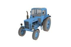 Blau lokalisierter Traktor Stockbilder