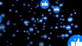 Blau mag Knopf des Social Media in der 2d Animation