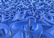 Blau nummeriert Hintergrund Stockfoto