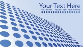 Blau punktiert Visitenkarte Lizenzfreie Stockbilder