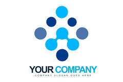 Blau punktiert Zeichen Lizenzfreie Stockfotografie