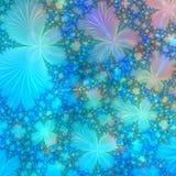 Blau, Purpur und Goldabstrakter Hintergrund konzipieren Schablone Lizenzfreie Stockfotografie