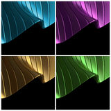 Blau, purpurrot, Gold, grüner abstrakter Hintergrund lizenzfreie abbildung