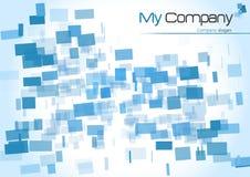 Blau quadriert Hintergrund Lizenzfreie Stockfotos