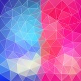 Blau-rosa abstrakter polygonaler Hintergrund. Kann für wallpap verwendet werden Lizenzfreie Stockfotografie