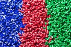 Blau-rot-grün Kunststoff Granulat Royalty Free Stock Photography