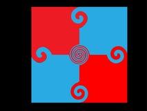 Blau-rote Laubsäge Lizenzfreie Abbildung