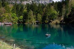 Lakes capture in Switzerland royalty free stock photography