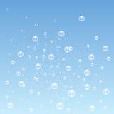 Blau sprudelt Hintergrund Vektor Lizenzfreie Stockfotos