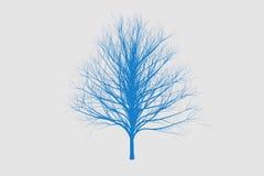 Blau sterben Baumfarbeschattenbild-Kunstdesign Stockbild