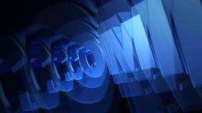 Blau-Text COM-Gebiets-3D stock video
