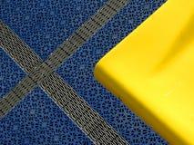 Blau und Gelb Stockfoto