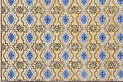 Blau und Gelb glasig-glänzende Fliesen Lizenzfreies Stockfoto