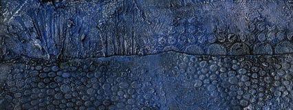 Blau und Gold prägeartiger Gipshintergrund lizenzfreie abbildung