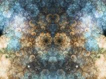 Blau und Goldfractalwolken Lizenzfreie Stockfotografie