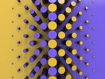 Blau-und Goldmuster-Hintergrund Stock Abbildung