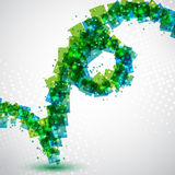 Blau und Grün lizenzfreie abbildung