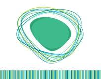 Blau und Grün farbiger Hintergrund Stockbild