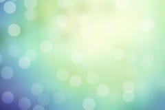 Blau- und Grünschein bokeh Hintergrund Stockfotos