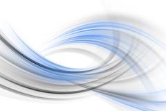Blau- und Grauwellen Stockfoto