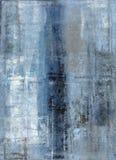 Blau und Grey Abstract Art Painting Lizenzfreie Stockbilder