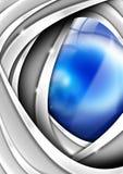 Blau-und Metallgeschäfts-Hintergrund Lizenzfreie Stockfotos