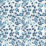 Blau- und Purpurblattverzierung Stockfotografie