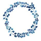 Blau- und Purpurblattverzierung Lizenzfreies Stockfoto