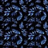 Blau- und Purpurblattverzierungsmuster Stockfoto