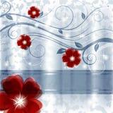 Blau und Rot Stockfoto