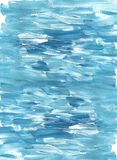 Blau- und Türkisabstrakter Marinehintergrund Handgemalte Acryl- oder Ölbeschaffenheit Natürliche Beschaffenheit für Auslegunggest lizenzfreie stockfotografie