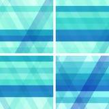 Blau- und Türkishintergründe mit Streifen Lizenzfreies Stockbild