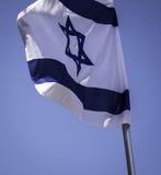 Blau und weiße Flagge Lizenzfreies Stockfoto