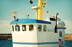 Blau- und weißeFischerbootkabine - Schweden lizenzfreie stockfotografie