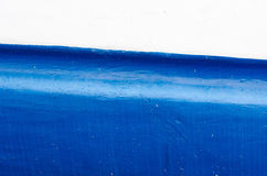 Blau- und Weißschiffsrumpf Stockbild