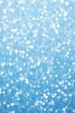 Blau unscharfe Lichter Funkelnder abstrakter Hintergrund Lizenzfreies Stockbild