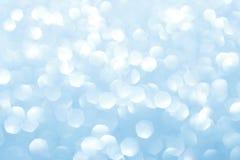 Blau unscharfe Lichter Funkelnder abstrakter Hintergrund Stockfoto