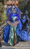 Blau verkleidete Personen Stockfotografie