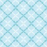 Blau verlässt abstraktem Diamanten nahtloses Muster Lizenzfreie Stockbilder