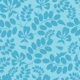 Blau verlässt nahtlosen Musterhintergrund Stockbilder