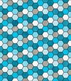 Blau, Weiß und Gray Hexagon Mosaic Abstract Geometric-Design-Ti Lizenzfreie Stockfotos