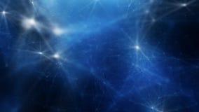 Blau-weißer abstrakter Hintergrund des Plexus stock footage