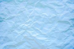 Blau zerknitterte Papierbeschaffenheit Stockfotos
