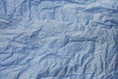 Blau zerknitterte Papierbeschaffenheit Lizenzfreies Stockbild