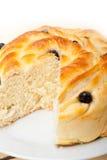 Blaubeerbrot-Kuchennachtisch Stockfoto