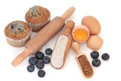 Blaubeere-Muffins Stockfoto