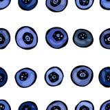 Blaubeere nahtlos Gekritzel-Art-Vektor-Design, lokalisiert auf weißem Hintergrund Stockfoto