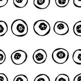 Blaubeere nahtlos Gekritzel-Art-Vektor-Design, lokalisiert auf weißem Hintergrund Lizenzfreies Stockfoto
